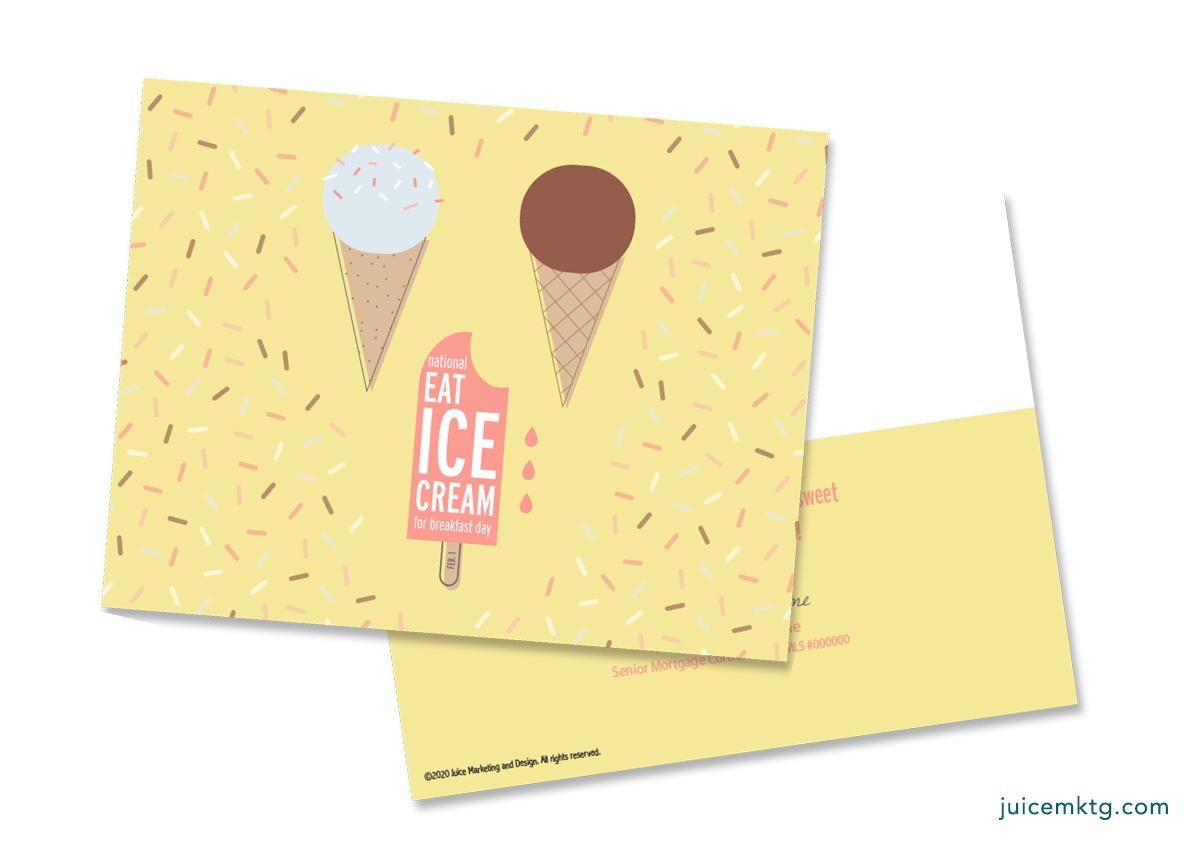 Feb. 1, Ice Cream for Breakfast Day - Postcard