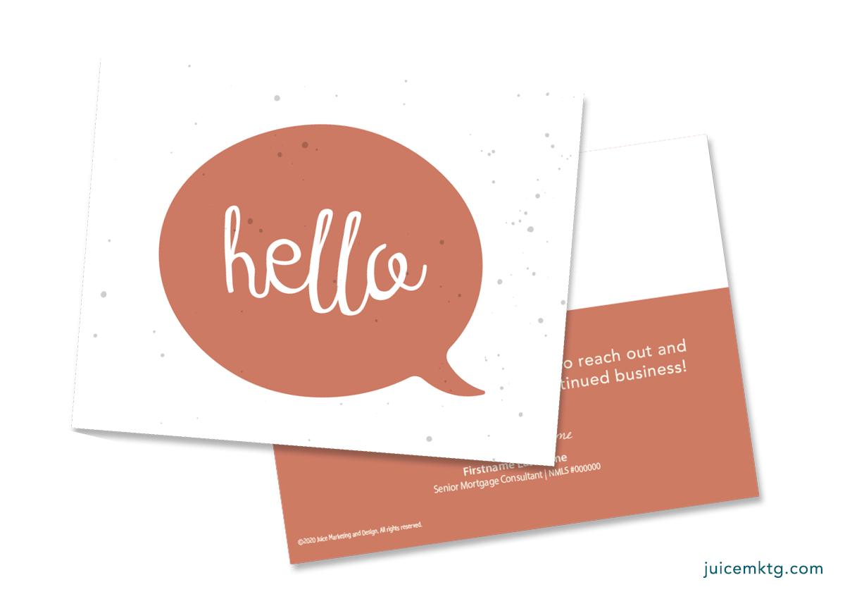 Hello - Simplicity Postcard