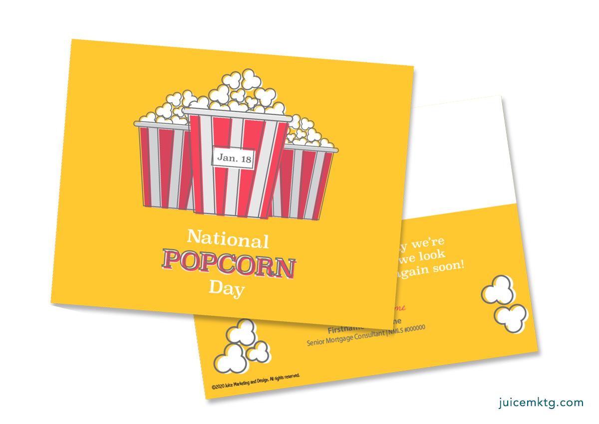 Jan. 18, Popcorn Day - Postcard