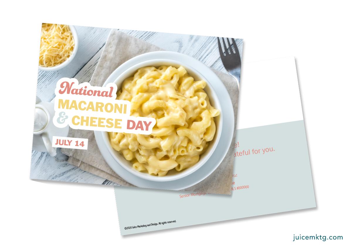 July 14, Mac & Cheese Day - Postcard