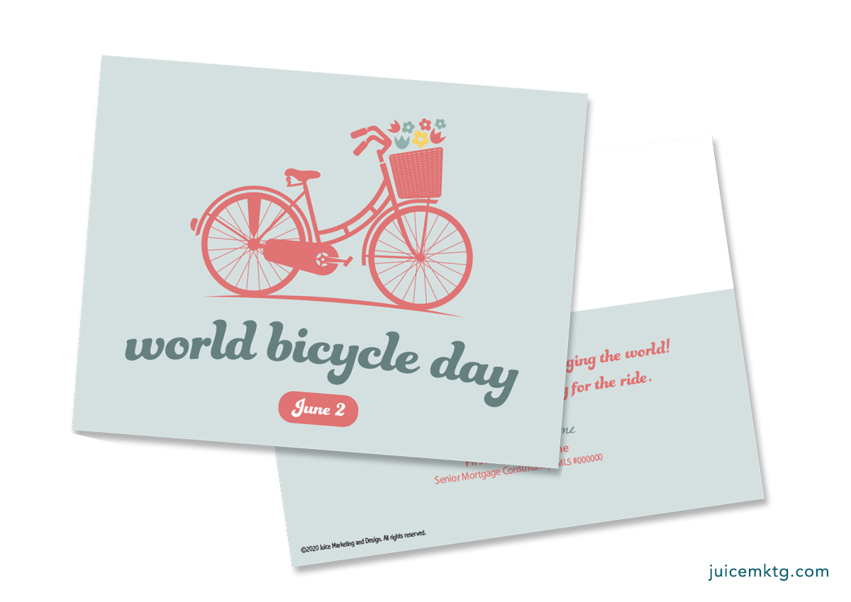 June 2, Bicycle Day - Postcard