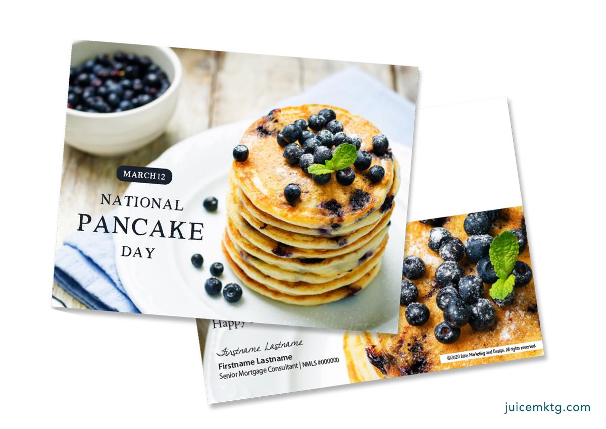 March 12, Pancake Day - Postcard