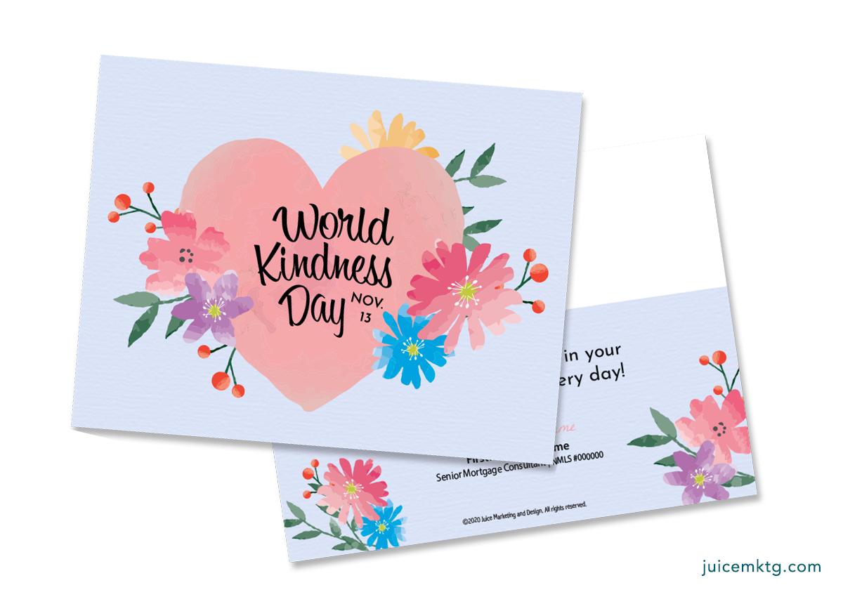 Nov. 13, Kindness Day - Postcard