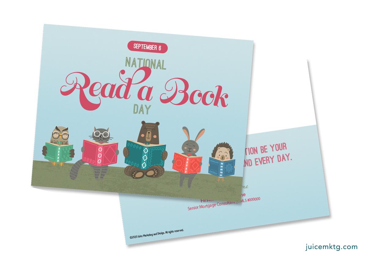Sep. 6, Read a Book Day - Postcard