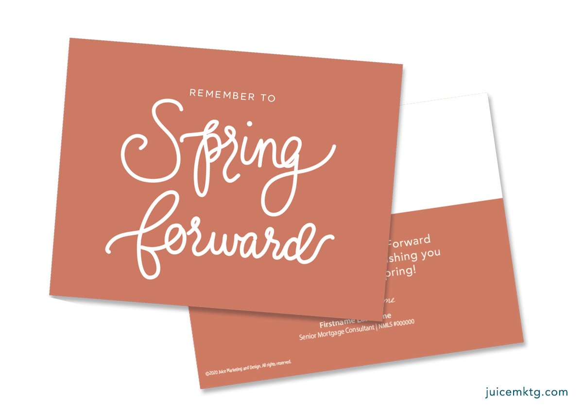 Spring Forward - Simplicity Postcard