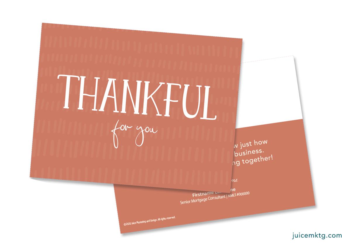 Thankful - Simplicity Postcard