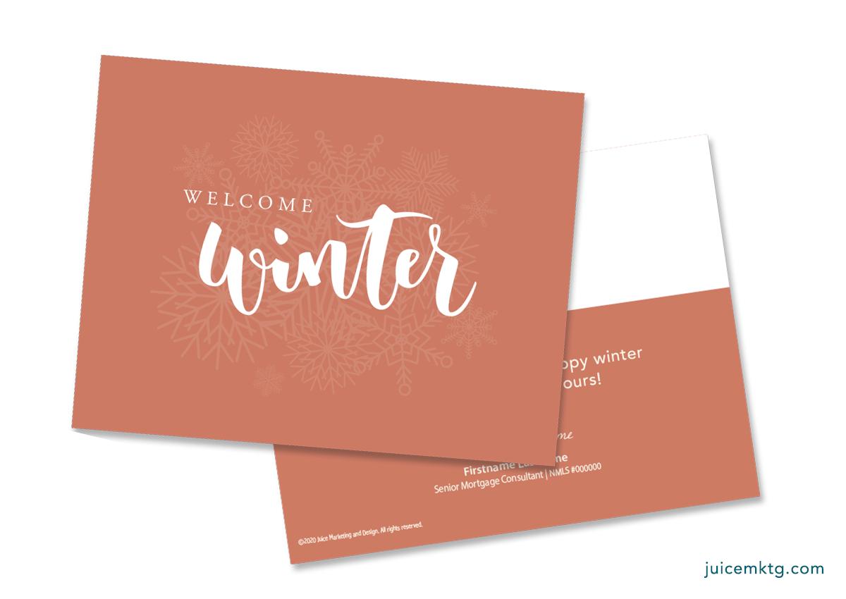 Winter - Simplicity Postcard