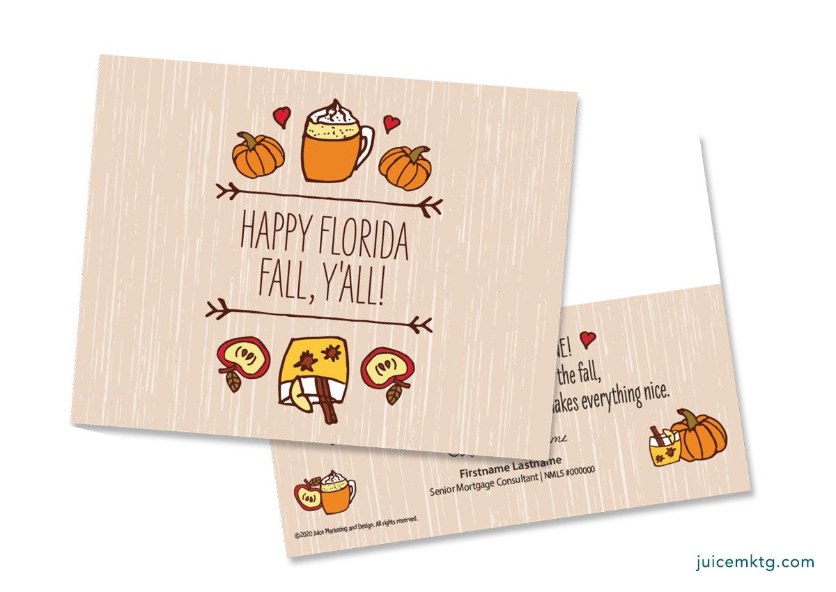 Happy Florida Fall Y'all - Postcard