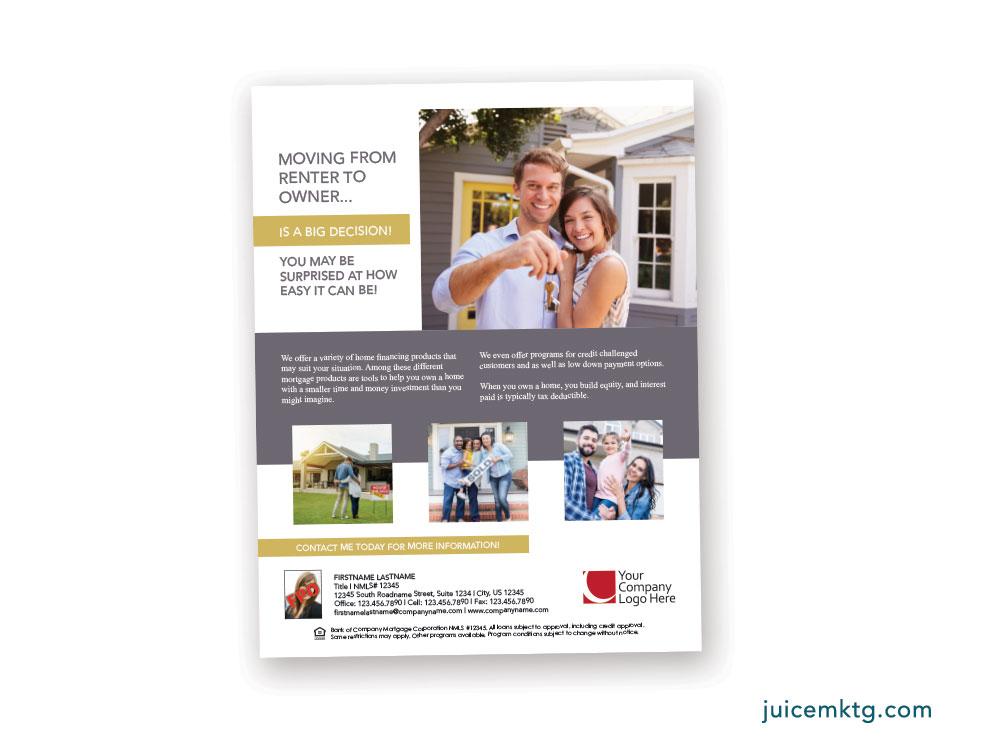 Juice Marketplace flyer design 1