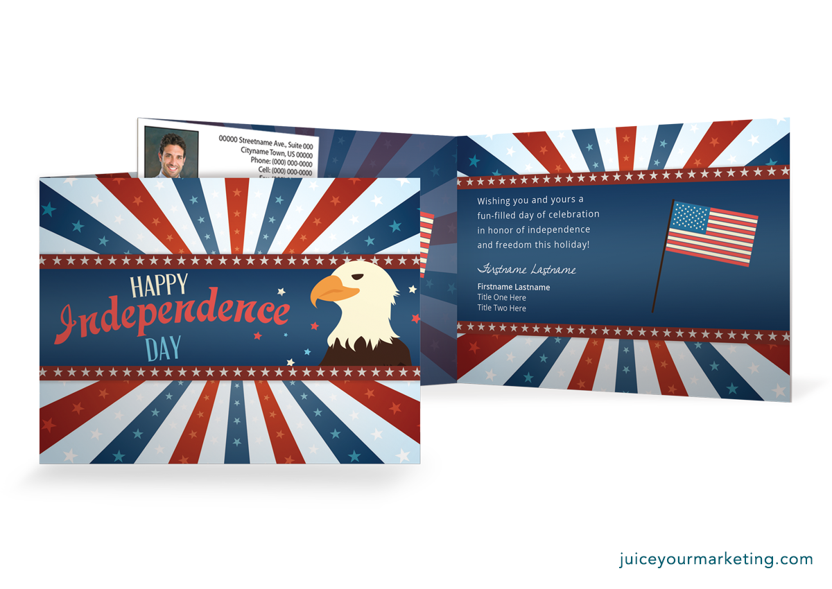 Independence Day - Eagle - Folded Card