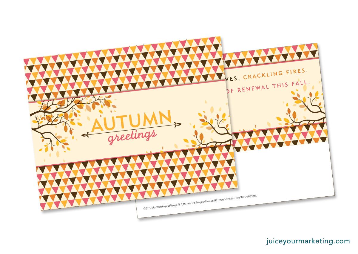 Autumn Greetings - Postcard