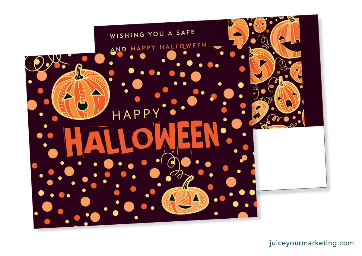 Halloween - Jack-O-Lanterns - Postcard